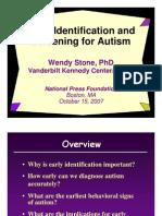 Identifying Autism (Wendy Stone, Ph.D.)
