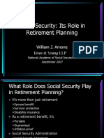 Social Security and Pensions