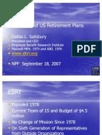 Retirement in the Private Sector (Dallas Salisbury)