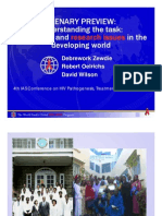 ARV Rollout in the Developing World (Dr. Debrework Zewdie)