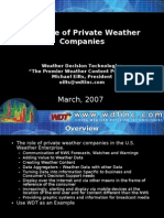 The Role of Private Weather Companies (Mike Eilts)