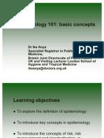 Epidemiology 101 (Ike Anya, M.D.)