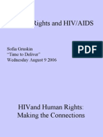 Human Rights and HIV/AIDS (Sofia Gruskin)