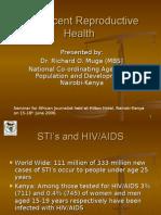 Adolescent Reproductive Health (Richard Muga)