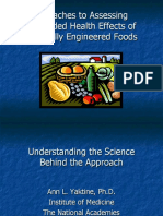 Approaches to Assessing Unintended Health Effects of Genetically Engineered Foods (Ann L. Yaktine, Ph.D.)