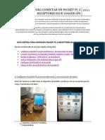 Guía rápida de conexión Blue Logger a PocketPC