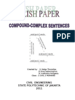 ENGLISH PAPER COMPOUND-COMPLEX SENTENCE