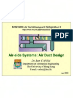 Air Side System-Air Duct Design