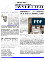 Springboro Schools April 2011 Newsletter