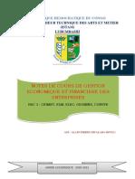 COURS DE GESTION ET ORGANISATION DES ENTREPRISES BAC 3 ISTA