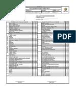 Lista de verificacion de camion grua