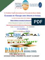 La troisième Conférence Internationale de Dakhla sur l'Économie, le Management et le Développement des Régions Arides, du Désert et du Sahara