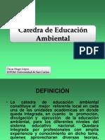 Cátedra de Educación  Ambienta