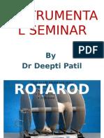 Rotarod Instrument