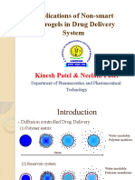 Applications of Non-smart Hydrogels in Drug Delivery System