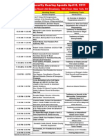 Homeland Security Hearing Agenda as of April 6