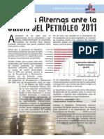 Medidas Alternas ante la Crisis Crisis Petroleo 2011