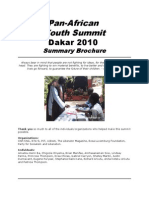 Pan-African Youth Summit Dakar 2010- Summary Brochure