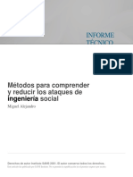 Métodos Para Comprender y Reducir Los Ataques de Ingeniería Social