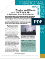Observing Weather and Climate from the Ground Up, Report in Brief