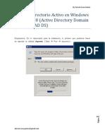 Instalar Directorio Activo en WindowsServer 2008