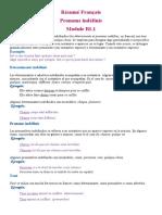 Résumé Français, pronoms indefinis