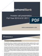 Diamond Bank Investor Call Presentation FY10 1Q11 Results