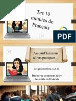 Tes 10 Minutes de Français - Grammaire A1.1 Se Présenter