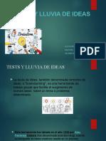 Expocicion Tests Lluvia de Ideas