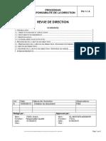 PQ 1-1 A - Revue de Direction