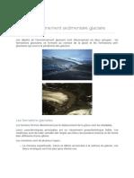 Roches Sédimentaires, Stratigraphie - L'Environnement Sédimentaire Glaciaire