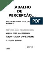 TRABALHO DE PERCEPÇÃO