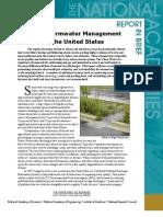 Urban Stormwater Management, Report in Brief