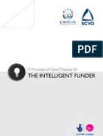 10 Principles of Good Practice for the Intelligent Funder