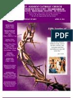 April 10, 2011 Bulletin