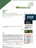 Criando a Estrutura HTML do..