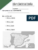 Localización y límites de España