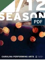 2011-12 Carolina Performing Arts Season Guide