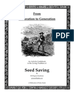 From Generation to Generation, Seed Saving