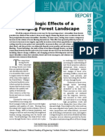 Hydrologic Effects of a Changing Forest Landscape, Report in Brief