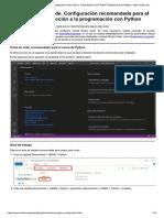 Configuración Recomendada Python