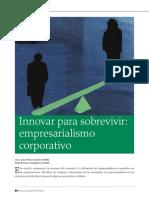 Innovar para sobrevivir- empresarialismo corporativo - INCAE ...