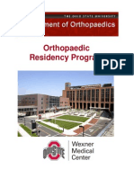 OSU Orthopaedics Residency Program Brochure
