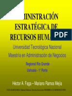 Administración Estratégica de Recursos humanos