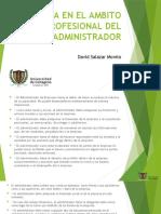 La Etica en El Ambito Profesional Del Administrador