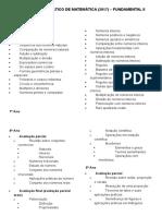 CONTEÚDO PROGRAMÁTICO DE MATEMÁTICA (2017) – FUNDAMENTAL II