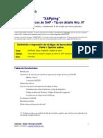 SAP para impresion de codigo de barra