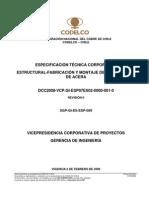 DCC2008-VCP.GI-ESP07ES02-0000-002-0 Especificación Técnica Corporativa Estructural Fabricación y