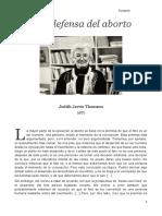 Una Defensa Del Aborto - Judith Thomson