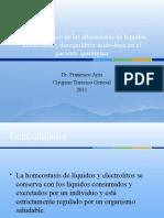Enfoque práctico del desequilibrio de líquidos y electrolitos en el paciente quirúrgico